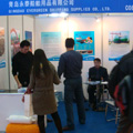 Attending the exhibition about the marine industry