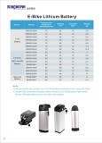 E-bike battery list