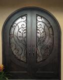 round top exterior wrought iron entry door