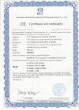 CE certificate for Wisdom corded lamp KL5M,KL8M