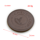 Promotion Souvenir Texas PU Leather Cup Coaster with Logo