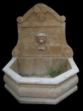 antique finish stone wall fountain
