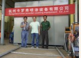 Our team were sent to Indonesia for building up the powder coating line