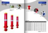 Hydraulic cylinders for dump truck