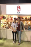 Photo with customers at the Canton Fair
