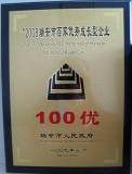 Certification of TOP 100 Developing Enterprise