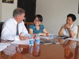 Director-General of Agence De DéVeloppement De L′alsace Come to Our Company for Negotiation