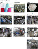 Work gloves production process