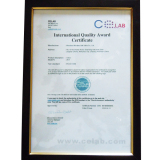 International Quality Award Certificate