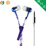 Fashion metal zipper earphone