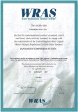 WRAS certificate for PP compression fittings