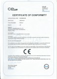 CE certificate for JW series