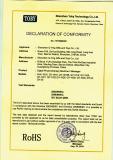 ROHS certificate of massager