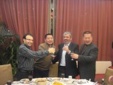 Drinking a toast with Iran customers