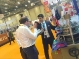 Attened professional textile machine exhibition
