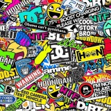Tsautop new arrival 0.5m width cartoon hydrographic film sticker bomb