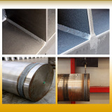 Welding part of filter press