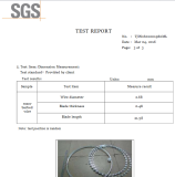 SGS CERTIFICATE of STEEL WIRE RAZOR WIRE