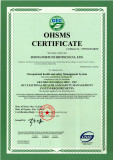 OHSAS18001:2007 certificate for CMC