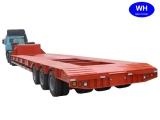 Lowbed semi trailer with 3Axles