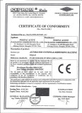 CE Certificate of Automated Cutting & Dispensing Machine