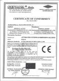 CE Certificate of Automated Cutting & Dispensing Machine