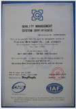 Quality Mangement System Certificate