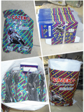 Motorcycle inner tube color box and color woven bag packing