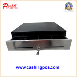 Metal cash drawer with stainless front