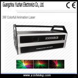 Stage Equipment 3W Colorful Animation Laser