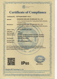Waterproof certificate of solar light