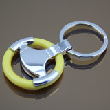 Promotional personalized Metal Car Steering Wheel Keychain (F1003C)