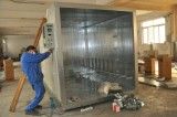 Production of powder coating oven process