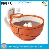 Ceramic basketball mug with hoop