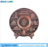 Embossed Custom Military Plate Brass Souvenir Plate Gift Metal Plaque