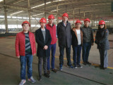 Columbian customer visited our factory