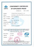 Conformity Certificate of Explosion-proof of Mass Flow Transmitter