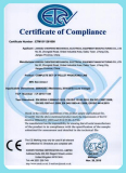 CE certificate for european market