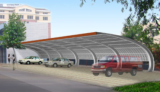 cheap steel structure carport garage