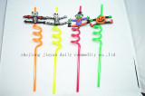PVC halloweed crzay shape straw (FDA )
