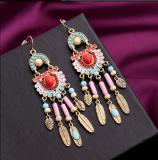National Wind colored earrings