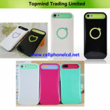 Luminous Silica Gel with PC Back Cover for Apple iPhone5 4G 4S