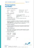 PP material food grade test report