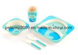 Customized Design BPA Free Bamboo Fiber Dinner Set for Kids, Cute Carton Design, Dinner Plate