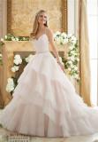 Mori Lee Morilee Satin Tulle Sweetheart Spaghetti Straps Wedding Dress (Dream-100044)
