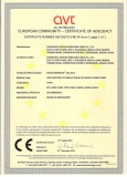 CE certificate of LOW VOLTAGE PVC INSULATED CABLE