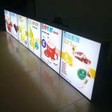 restaurant menu board with led light box for fast food display