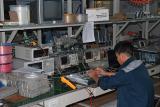 Engineer is adjustment the EDFA