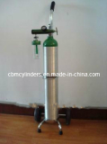Convenient Oxygen Cylinder Set in a Cart (E-size Cart Set)