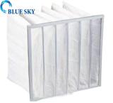 Plastic frame pocket filter bag